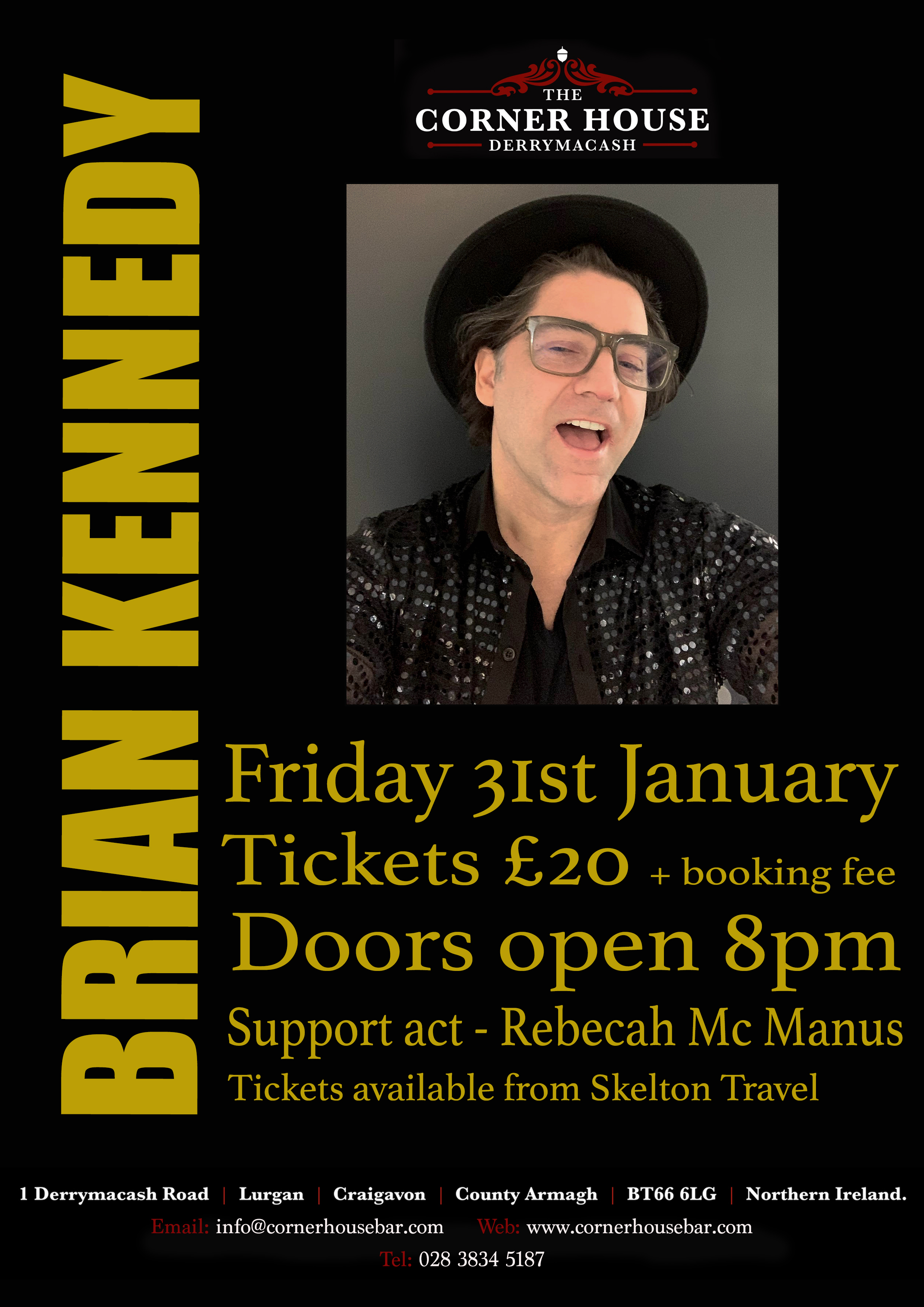 Brian Kennedy LIVE at the Corner House